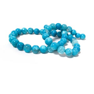 Blue Fire Agate Grade A Plain Round Beads 8mm Strand Of 45+ Pieces CB74221-2