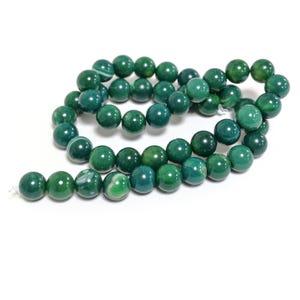 Dark Green Fire Agate Grade A Plain Round Beads 8mm Strand Of 45+ Pieces CB74222-2