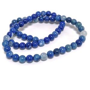Dark Blue Fire Agate Grade A Plain Round Beads 6mm Strand Of 60+ Pieces CB74223-1