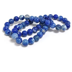 Dark Blue Fire Agate Grade A Plain Round Beads 8mm Strand Of 45+ Pieces CB74223-2