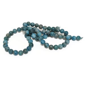 Blue Frosted Apatite Grade A Plain Round Beads 6mm Strand Of 60+ Pieces CB77812-1