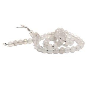 White/Grey Sponge Quartz Grade A Plain Round Beads 6mm Strand Of 60+ Pieces CB77817-1