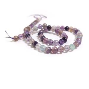 Purple/Lilac Fluorite Grade A Plain Round Beads 6mm Strand Of 60+ Pieces CB79957-1