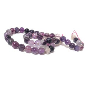Purple/Lilac Fluorite Grade A Plain Round Beads 8mm Strand Of 45+ Pieces CB79957-2