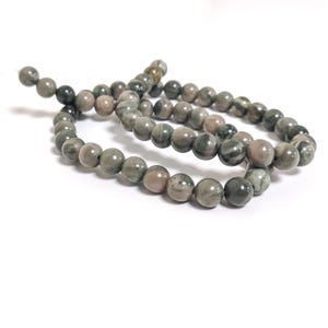 Green Camouflage Jasper Grade A Plain Round Beads 6mm Strand Of 60+ Pieces CB79962-1