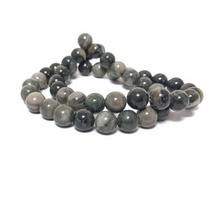 Green Camouflage Jasper Grade A Plain Round Beads 8mm Strand Of 45+ Pieces CB79962-2