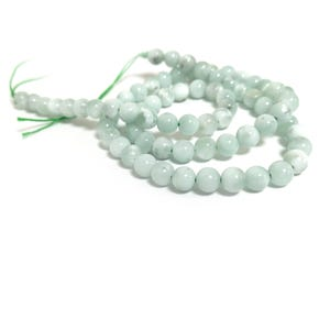 Green Angelite Grade A Plain Round Beads 6mm Strand Of 60+ Pieces CB87329-1