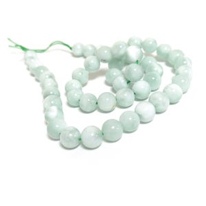 Green Angelite Grade A Plain Round Beads 8mm Strand Of 45+ Pieces CB87329-2