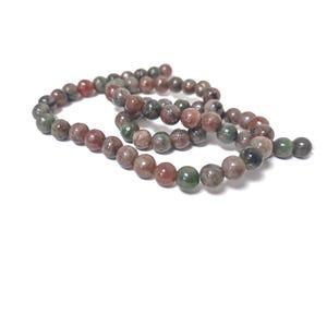 Green/Red Kashgar Garnet Grade A Plain Round Beads 6mm Strand Of 60+ Pieces CB90491-2