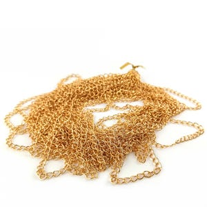Metal Alloy Golden Curb Chain 3.5mm x 5.5mm Open Link 10m Length CH1200