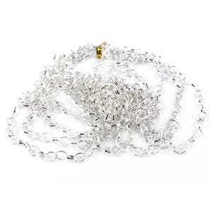 Metal Alloy Silver Cable Chain 6mm x 8mm Open Link 4m Length CH1220