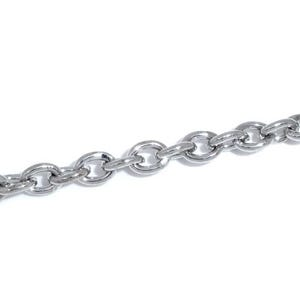 Iron Alloy Silver Cable Chain 3mm x 4mm Open Link 10m Length CH1355