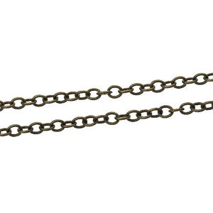 Iron Alloy Antique Bronze Cable Chain 2.5mm x 3mm Open Link 10m Length CH1440