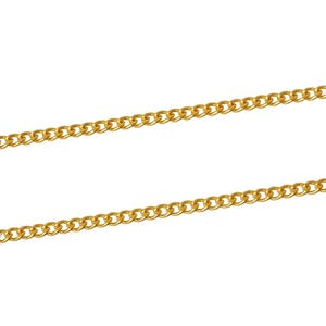 Iron Alloy Golden Curb Chain 2mm x 3mm Open Link 10m Length CH1455