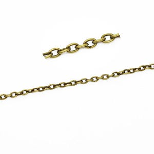 Iron Alloy Antique Bronze Cable Chain 2.5mm x 3.5mm Open Link 10m Length CH1575