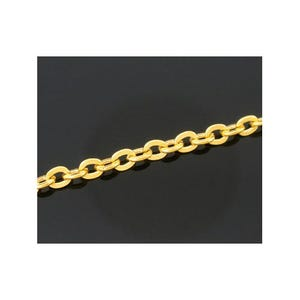 Metal Alloy Golden Cable Chain 2.5mm x 3mm Open Link 10m Length CH1655