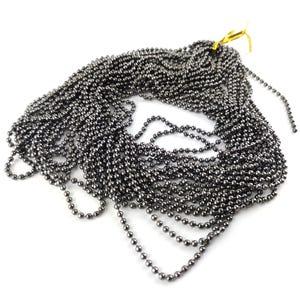 Metal Alloy Black Ball Chain 2.4mm Link 10m Length CH1700