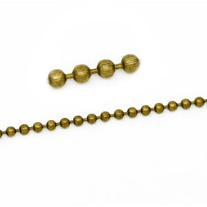 Metal Alloy Antique Bronze Ball Chain 2.4mm Link 10m Length CH1705