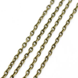 Iron Alloy Antique Bronze Cable Chain 2.5mm x 4mm Open Link 10m Length CH1730
