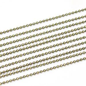 Iron Alloy Antique Bronze Ball Chain 1.5mm Link 10m Length CH1735