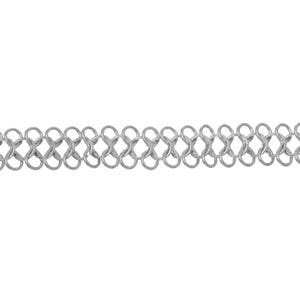 Iron Alloy Silver Tone 8 Shape Link Chain 18.5mm Open Link 1m Length CH1995