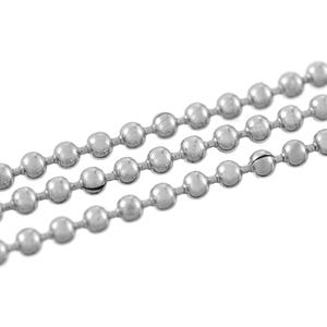 304 Stainless Steel Silver Tone Ball Chain 1.5mm Link 2m Length CH2050
