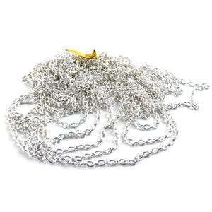 Metal Alloy Silver Cable Chain 3mm x 5mm Open Link 5m Length CH2295