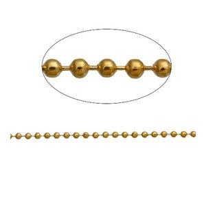 Iron Alloy Golden Ball Chain 2.5mm Link 10m Length CH2320