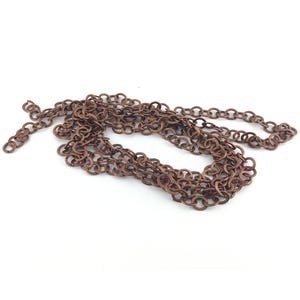 Iron Alloy Red Copper Cable Chain 10mm Open Link 2m Length CH2325