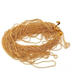 Iron Alloy Golden Ball Chain 1.5mm Link 10m Length CH2815
