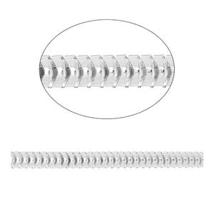 Iron Alloy Silver Snake Link Chain 3mm Closed Link 2m Length CH3100