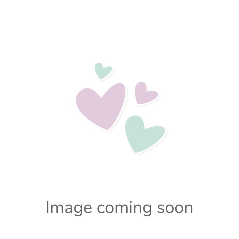Packet 5 x Gold/White Enamel & Alloy 10 x 15mm Flower Charm/Pendant Y06345
