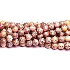 Multicolour Leopardskin Jasper Grade A Plain Round Beads 4mm Strand Of 90+ Pieces D01075