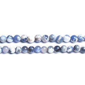 Blue/White Sodalite Grade A Plain Round Beads 3mm Strand Of 120+ Pieces D01400