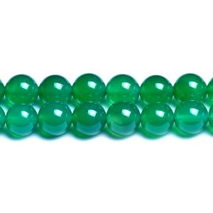Green Onyx Grade A Plain Round Beads 8mm Strand Of 45+ Pieces D01460