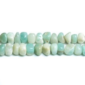 Turquoise/White Amazonite Grade A Smooth Nugget Beads Approx 9x5mm-9x6mm Strand Of 65+ Pieces D01755