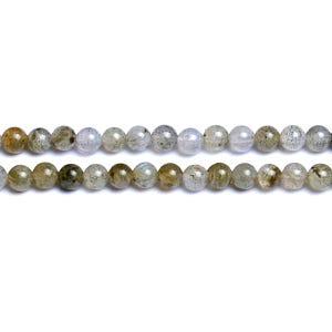 Grey Labradorite Grade A Plain Round Beads 3mm Strand Of 120+ Pieces D01820