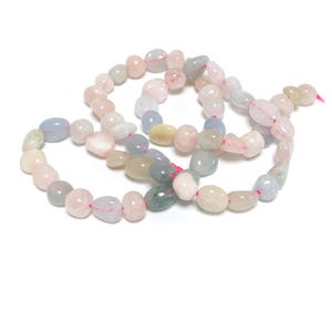 Mixed-Colour Beryl Grade A Smooth Nugget Beads 5x5mm-7x9mm Strand Of 55+ Pieces D02100