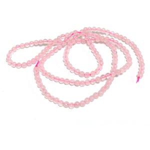 Pink Rose Quartz Grade A Plain Round Beads 2mm Strand Of 160+ Pieces D02110