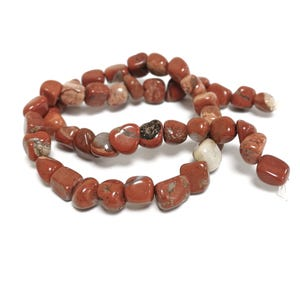 Red Jasper Grade A Smooth Nugget Beads 7x7mm-8x12mm Strand Of 45+ Pieces D02145