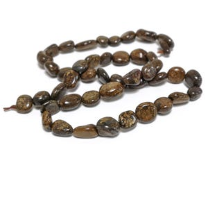 Brown Bronzite Grade A Smooth Nugget Beads 5x7mm-8x11mm Strand Of 45+ Pieces D02150