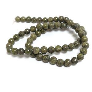 Green Lizardite Grade A Plain Round Beads 6mm Strand Of 60+ Pieces D02160