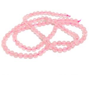 Pink Rose Quartz Grade A Plain Round Beads 3mm Strand Of 120+ Pieces D02165