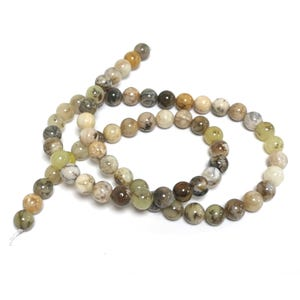 Yellow/Mixed-Colour Dendritic Agate Grade A Plain Round Beads 6mm Strand Of 60+ Pieces D02215