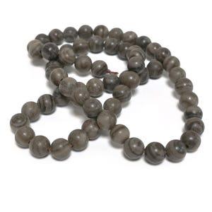 Brown Coffee Jasper Grade A Plain Round Beads 6mm Strand Of 60+ Pieces D02220