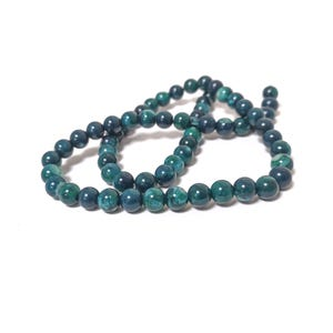 Teal Green Fire Agate Grade A Plain Round Beads 6mm Strand Of 60+ Pieces D02240