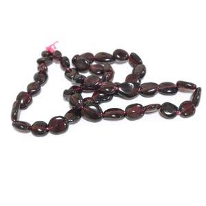 Dark Red Garnet Grade B Smooth Nugget Beads 5x5mm-8x12mm Strand Of 45+ Pieces D02255