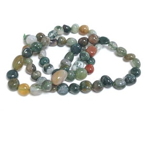 Multicolour Fancy Jasper Grade A Smooth Nugget Beads 6x6mm-7x10mm Strand Of 60+ Pieces D02285