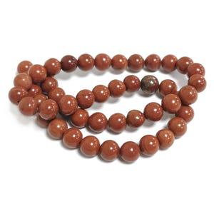 Red Jasper Grade A Plain Round Beads 8mm Strand Of 45+ Pieces D02295