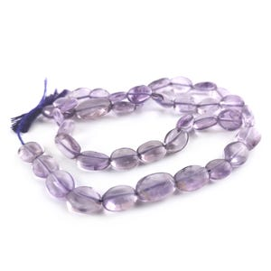 Lilac Cape Amethyst Grade A Oval Beads Approx 6x8mm-7x10mm Strand Of 38+ Pieces DW1010
